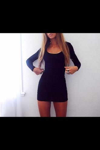 dress black elegant classy cool sexy nice party black dress long sleeves long sleeve dress classy dress pleasehelpmetofind party dress