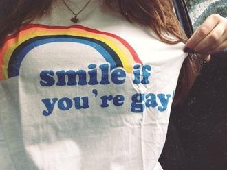 shirt tumblr tumblr shirt girl white rainbow grunge grunge t-shirt