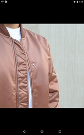 rose gold,bomber jacket,dusty pink,pink jacket,quilted,jacket,nude,urban pastel pink,all pink wishlist,pink bomber jacket,leather jacket,khaki,metallic,spring,dope,rosé,satin bomber,pink satin bomber,satin bomer jacket