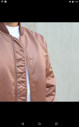 rose gold bomber jacket dusty pink pink jacket quilted jacket leather jacket