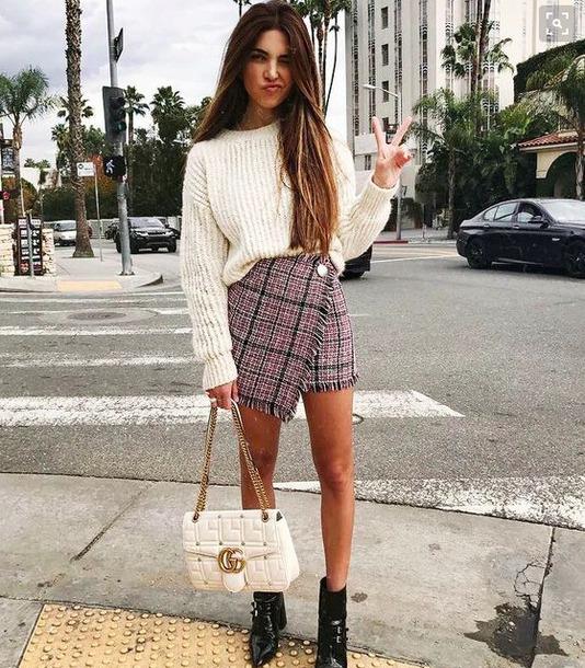 30f80978da0706 skirt, sweatshirt, cool girl style, pencil skirt, style, city ...