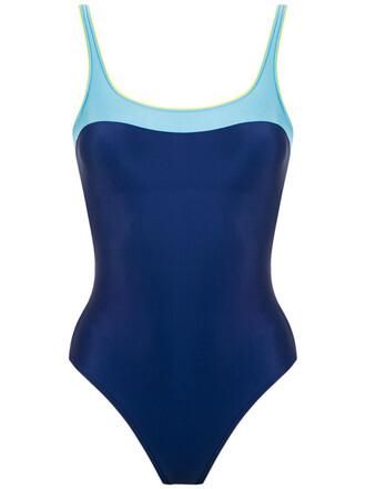 women spandex blue swimwear