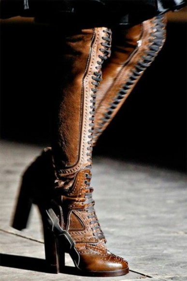 western vintage shoes tan boots tan lace up boots high heels heeled lace up boots victorian steampunk high lace up boots