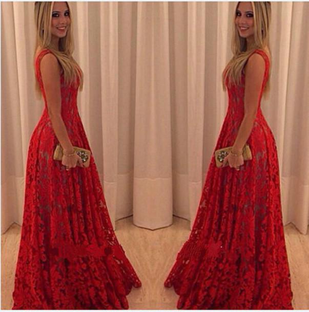 dress lace dress long lace dress red dress long dress