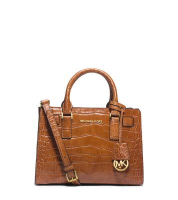 1e5e39c1f6b5 Dillon Small Crocodile Pattern-Embossed Leather Satchel