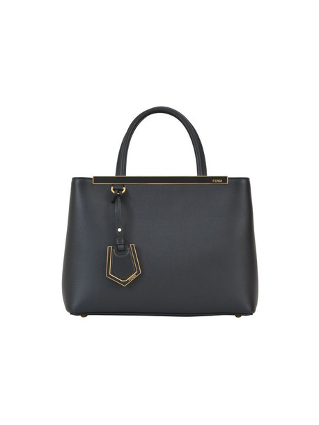 Fendi handbag black grey bag