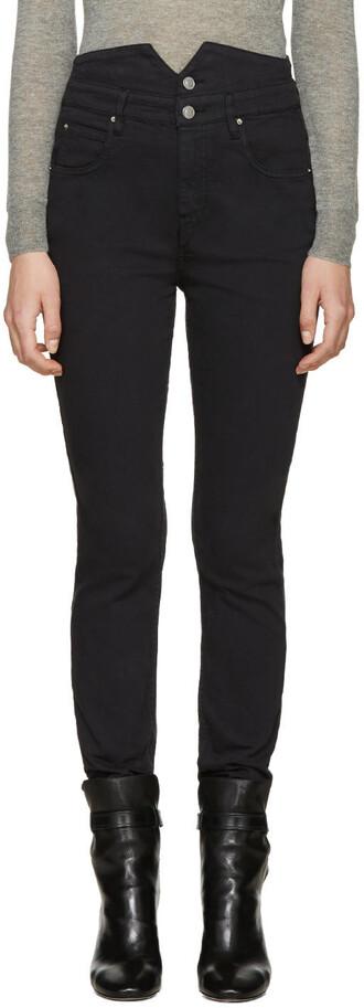 jeans high black