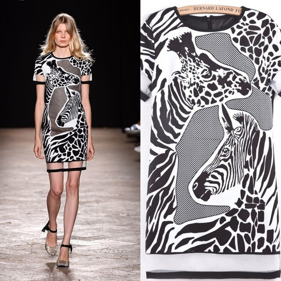 zebra dress i4out fashion look lookbook zebra dress show street style style summer dress 2014 prom dresses