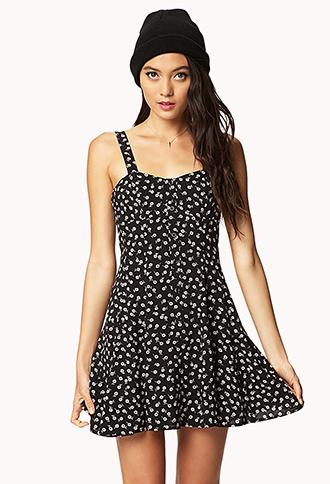 Floral Babydoll Dress   FOREVER21 - 2036109449