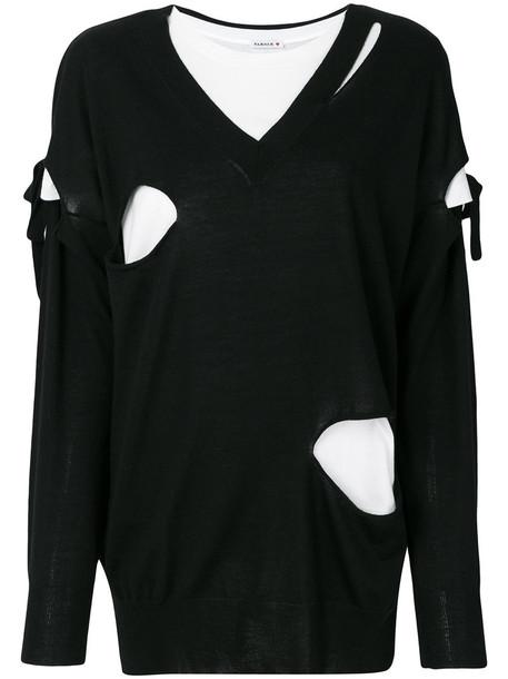 P.A.R.O.S.H. P.A.R.O.S.H. - slashed jumper - women - Wool - XS, Black, Wool