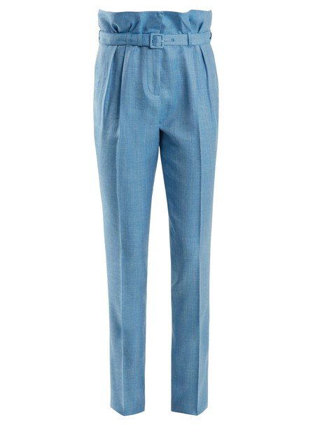 Gabriela Hearst fit silk wool light blue light blue pants