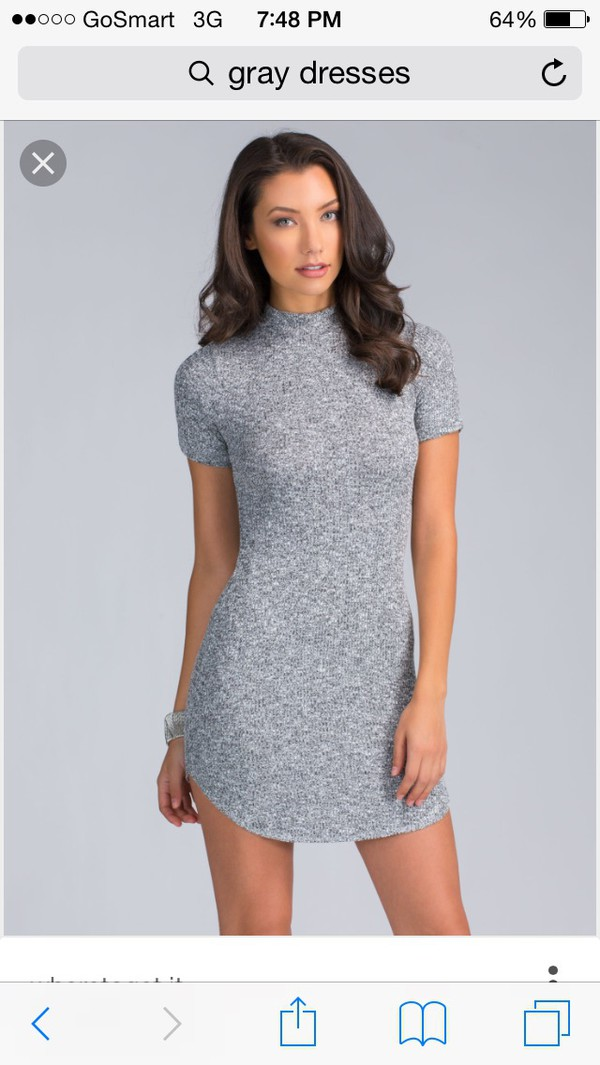dress grey dress grey bodycon dress