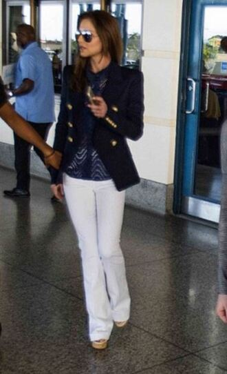 pants blazer cheryl cole sunglasses navy jacket