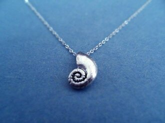 jewels voice shell sterling silver chain necklace the little mermaid mermaid