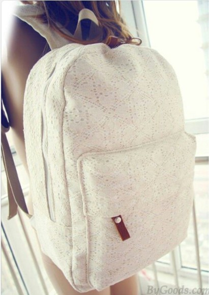 bag backpack cute back to school lace