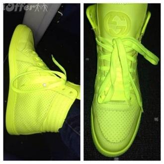 yellow coda neon gucci coda neon trainers gucci sneakers