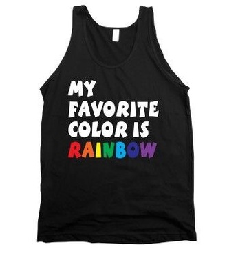 blouse style shirt dope rainbow tank top quote on it