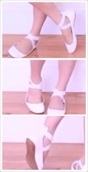 shoes ballet flats flats white