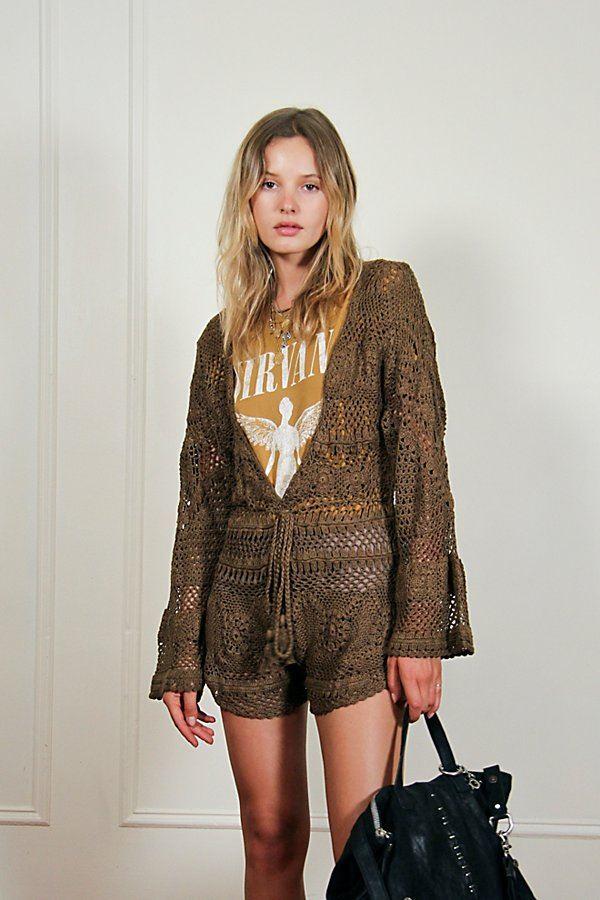 Camelia Crochet Playsuit