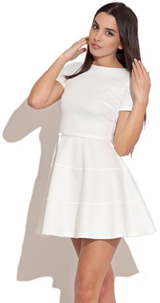 ba072f6e921d Short Sleeve Skater Dress White