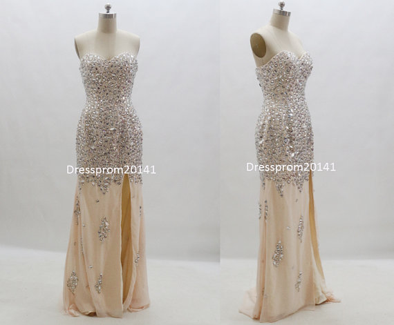 Yellow prom dressesbridal gownsparty by dressprom20141 on etsy