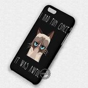 phone cover,quote on it phone case,cats,grumpy cat,iphone cover,iphone case,iphone,iphone 4 case,iphone 4s,iphone 5 case,iphone 5s,iphone 5c,iphone 6 case,iphone 6 plus,iphone 6s case,iphone 6s plus cases,iphone 7 plus case,iphone 7 case