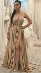 dress,beige dress,nude dress,cream dress,cotton polyester,silk