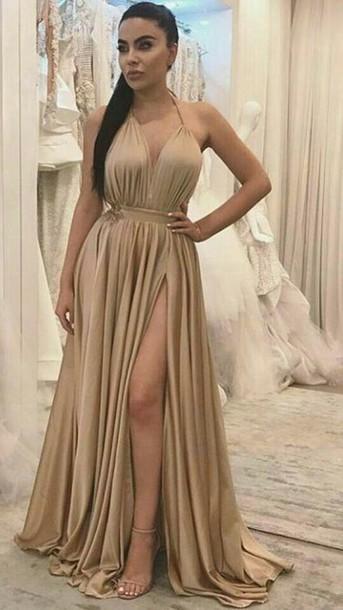 dress beige dress nude dress cream dress cotton polyester silk