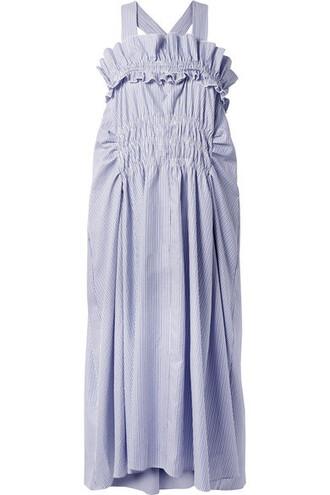 dress midi dress midi cotton blue sky blue