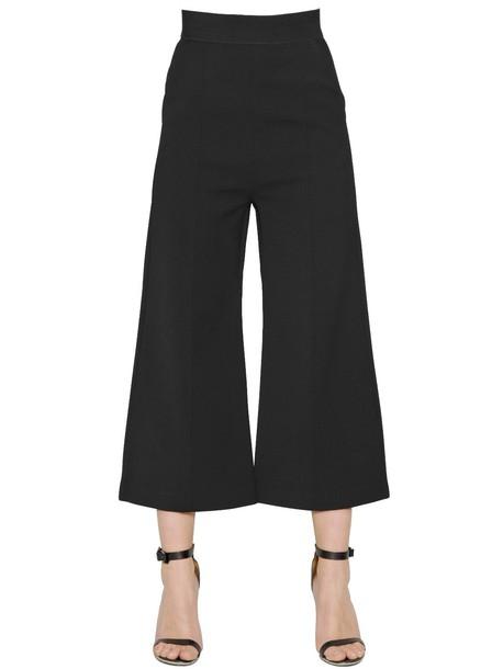 self-portrait pants cropped pants cropped black