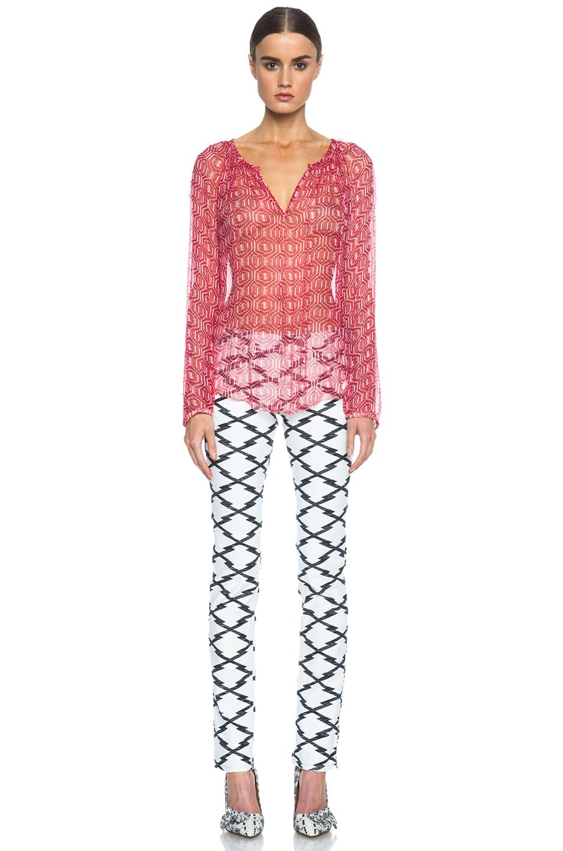 Isabel Marant Etoile|Zinya Silk Top in Red