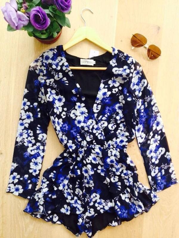 blouse romper jumpsuit