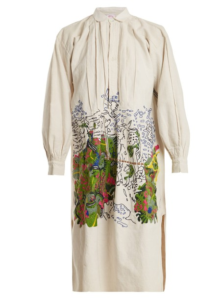 shirtdress embroidered dress