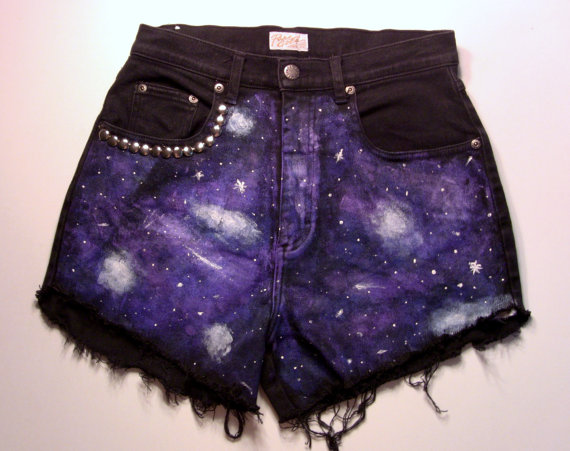Galaxy studded highwaisted shorts all sizes by burdazi on etsy