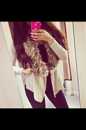jacket brown soft vest fur fur vest fashion