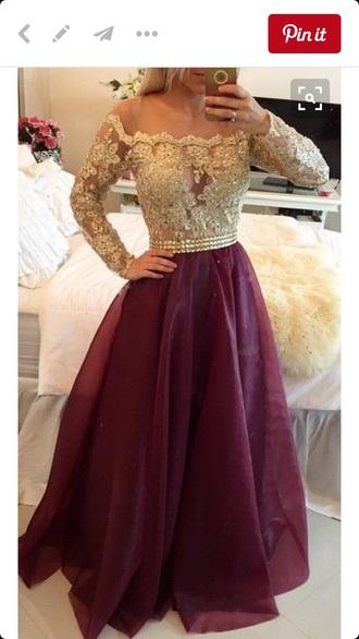 dress lace red prom dress