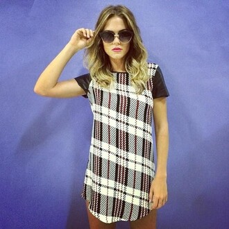 dress sunglasses tartan dress shift