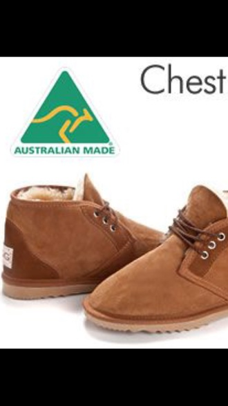shoes chestnut laced two-toned uggs