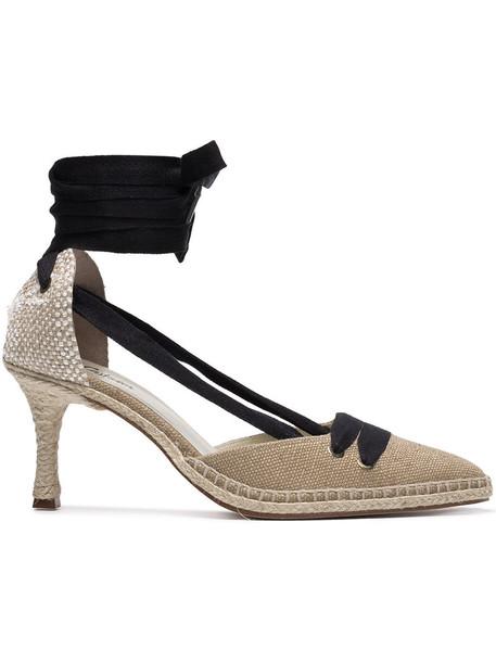 CASTAÑER women pumps leather nude cotton shoes