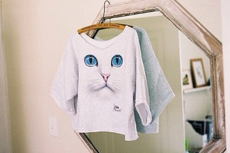 cat eye cat shirt cat shirts white shirt