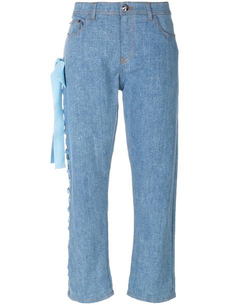 Fendi jeans denim cropped women spandex cotton blue
