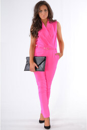 jumpsuit,pink dress