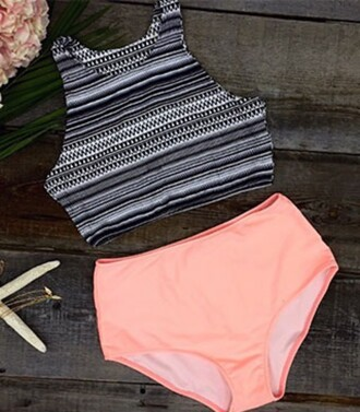 swimwear high wasted swimsuit high waisted crop top swimsuit high neck swimsuit