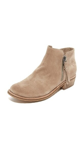 dark booties taupe shoes