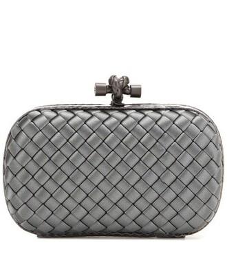 clutch satin grey bag