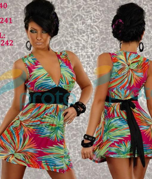 M XXL Plus Size Freeshipping 2013 New Fashion Women Sexy Deep V Flower Printed High Waist Club Party Mini Dress 4140 | Amazing Shoes UK
