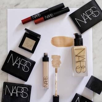 make-up tumblr nars cosmetics foundation concealer lipstick red lipstick