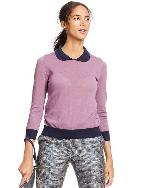 Merino collared sweater