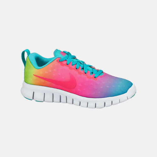 68e5f0586433 NIKE Free Express PS Running Shoes NIB Girls Sz 3.5y Rainbow ...