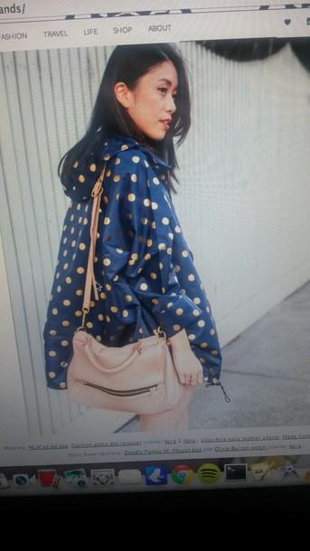 coat polka dots spray jacket windbreaker
